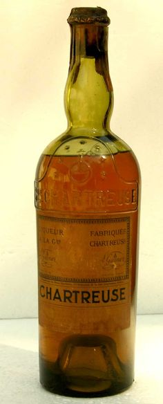 Vintage yellow Chartreuse bottle