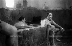 WPP, 2002, George Georgiou, 1st prize, Portraits stories. Serbia, men sit in the steam room of a Turkish bath near the predominantly Muslim town of Novi Pazar.
