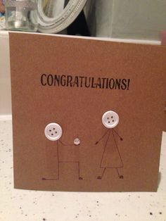 Congratulations on your engagement card, easy to make.