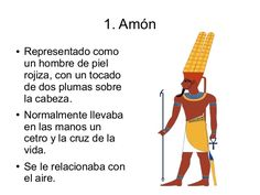Amun● Represented as a man with red skin, and a long hat with two feathers.● He holds a stick and the c. Ancient Egyptian Deities, Egyptian Mythology, Egyptian Goddess, Ancient Artifacts, Amon, Ancient Egypt History, Greece History, Ancient Aliens, Ancient Greece