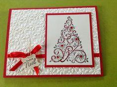 stampin up festive flurry ornament   ai utilisé le matériel Stampin'Up! suivant: