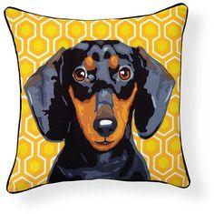 Pooch Decor: Dachshund Pillow