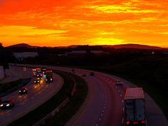 Sunrise Allentown Pa overlooking i-78 9.8.12