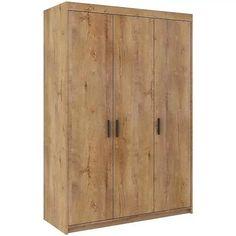 Skriňa Elena 3D dub lefkas Hall Wardrobe, Wardrobe Lighting, Fresh To Go, Drawer Runners, Corner Unit, Hanging Rail, Entry Hall, Mirror Door, How To Distress Wood