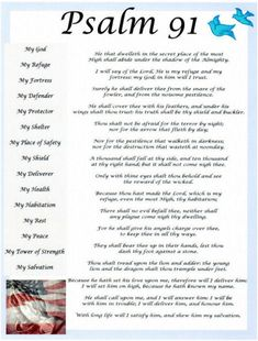 Psalm The Psalm has always been one of the most powerful Scriptures because of its protective power and its phenomenal promises of safety. Psalm 91 Kjv, Psalm 91 Prayer, Prayer Scriptures, Bible Prayers, Faith Prayer, God Prayer, Prayer Quotes, Deliverance Prayers, Scripture Memorization
