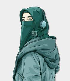 Niqab is sporty Cute Wallpaper Backgrounds, Cartoon Wallpaper, Cover Wattpad, Hijab Drawing, Islamic Cartoon, Iron Man Wallpaper, Hijab Niqab, Hijab Chic, Hijab Cartoon