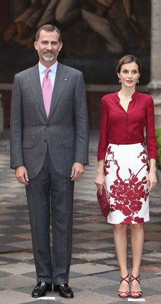 MyRoyals: Spanish Visit to Mexico, June 30, 2015-King Felipe and Queen Letizia attended a reception