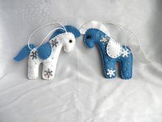 Felt horse christmas ornamentswhite blue felt pony by Marywool, $10.00. Chinese  New Year ...