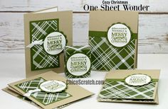 One Sheet Wonder Featuring Cozy Christmas 2 with Stampin' Up! Demonstrator Angie Juda
