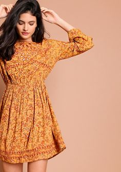 Gold Coast Floral Dress