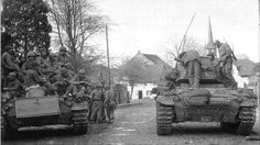 supermarketsecurity:  M24 Chaffees of4th cavalry group near Bedburg Germany, 2 March, 1945