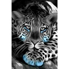 48213410 Diamond Painting - Full Round - Leaopard in 2020 Tier Wallpaper, Animal Wallpaper, Eagle Wallpaper, Wallpaper Maker, Beautiful Cats, Animals Beautiful, Cute Animals, Baby Animals, Big Cats Art