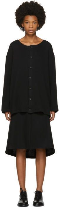 Nocturne 22 Black Fleece Long Cardigan