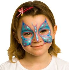Excellent beginner's guide to face painting from Snazaroo. Animal Face Paintings, Animal Faces, Face Painting Designs, Painting Patterns, Paint Designs, Butterfly Face Paint, Blue Butterfly, Butterfly Party, Butterfly Design