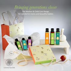 The Mother & Child Care collection comprises of a range of eight products which include massage oils, massage serum, hair & body wash and baby powder.