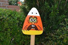 Halloween Candy Corn Yard Art by VishnefskisYardArt on Etsy