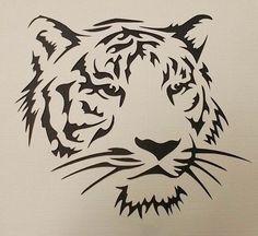 Tiger Stencil(Etsy のkraftkutzより) https://www.etsy.com/jp/listing/256063442/tiger-stencil
