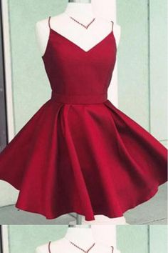 Burgundy v neck backless cheap homecoming dresses short cocktail dresses with bow - everisa Homecoming Dresses Under 100, Grad Dresses Short, Dresses For Teens, Simple Dresses, Pretty Dresses, Sexy Dresses, Evening Dresses, Cheap Hoco Dresses, Short Prom