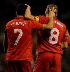 Luis Suarez and Steven Gerrard #LFC #Legends