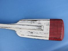 Wooden Rustic Kinsington Squared Oar w- Hooks 36