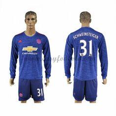 Fodboldtrøjer Premier League Manchester United 2016-17 Schweinsteiger 31 Udebanetrøje Langærmede