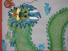 "4th grade Chinese dragon painting; 12"" X 18""  Art teacher: Susan Joe"