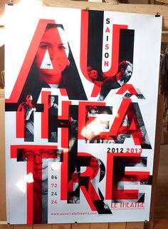 This is a poster i have researched for my typography class, I really like the way the black letter has been placed on top of the same red letter, it gives the letters dimension.