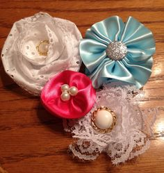 New line of flower bows coming soon! to simpleandstunning2.etsy.com ~ lovely for newborns and toddlers :)