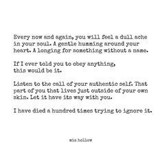 the call to your authentic self
