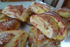 Serbian Pita Recipe, Serbian Recipes, Pita Recipes, Baking Recipes, Dessert Recipes, Desserts, Kiflice Recipe, Garlic Bread, Homemade Cakes