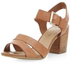 New Look Wide Fit Tan Leather Ankle Strap Block Heel Sandals - ShopStyle Block Sandals, Block Heels, Ankle Strap Block Heel, Teen Guy Fashion, Shoe Gallery, Your Shoes, Shoe Game, Tan Leather, Open Toe