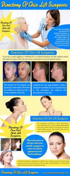 Visit this site http://bestservicesdirectory.com/directory-of-chin-lift-surgeons/ for more information on Directory Of Chin Lift Surgeons.