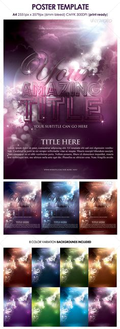 3 Club Flyers Templates $700 Awesome Designs - harmony flyer template