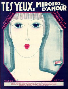 Tes Yeux, Miroirs d'Amour, 1927 (ill.: Peter De Greef); ref. 1702