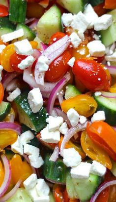 Tomato, Cucumber and Red Onion Salad