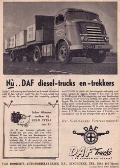 DAF, Eindhoven Eindhoven, Poster Ads, Old Trucks, Volvo, Cars And Motorcycles, Vintage Posters, Transportation, Automobile, Monster Trucks