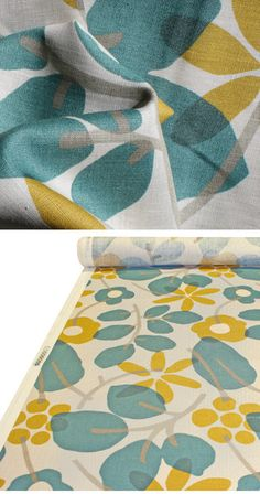 Tonic Living,Nathalie, Teal,100% Linen,Retro futon covers, retro fabric and pillows ($20-50) - Svpply