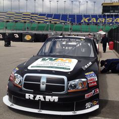Brad Keselowski in the #19 BKCFF and WM Careers NASCAR truck