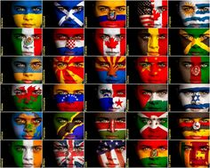 faces with flags on Around The World In 80 Days, Flags Of The World, My Father's World, First World, Tanzania, Kenya, Earth Flag, Flag Face, Best Hotel Deals