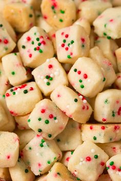 Funfetti Shortbread Bites Yield: About 335 bites Ingredients 1 cup salted butter, cold and diced into 1 Tbs. Funfetti Shortbread Bites Yield: About 335 bites Ingredients 1 cup salted butter, cold and diced into 1 Tbs. Holiday Snacks, Christmas Snacks, Christmas Cooking, Holiday Recipes, Christmas Recipes, Christmas Christmas, Christmas Lunch Ideas, Easy Holiday Desserts, Classy Christmas