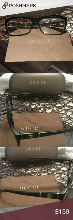 Gucci Optical Frames Gucci frames, never worn, no prescription. Eyewear case and cleaning cloth included. Gucci Other