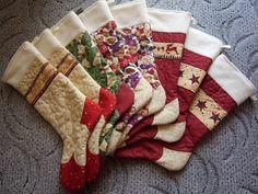 stocking  christmas patchwork Mikulášská punčocha