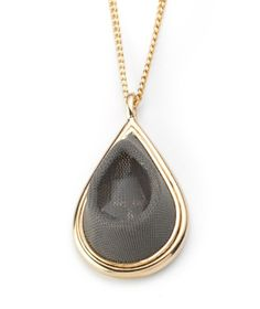 Inspiration Grey  Gold Teardrop Locket