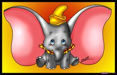 Disney Characters That Start with S | how to draw dumbo the elephant