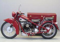 MOTORCYCLE 74: Nimbus sidecar 750 cc - 1936