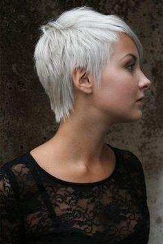 Very Short Dark Asymmetrical Hairstyles Side View Wispy-Hairstyles-for