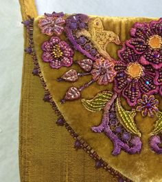 Sneak peak at my beaded purse that will be in an upcoming Inspirations Magazine  - by Anne Davies