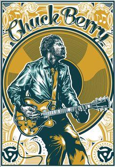 Chuck Berry Print by Brian Yap