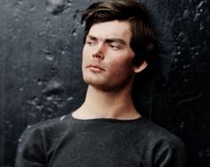 An amazing modern face and hair style:: Lewis Powell (here after his capture) conspired with John Wilkes Booth to kill President Lincoln - Powell's job was to kill Secretary of State William H. Seward, a job at which he failed.