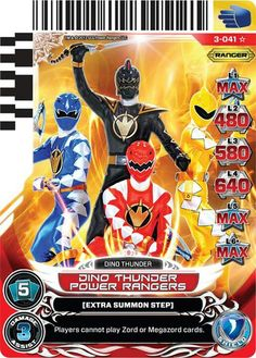 Dino Thunder Power  Rangers power card